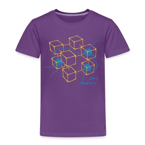 CM-1 Logo kid's purple/turquoise - Kids' Premium T-Shirt