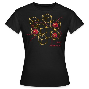 CM-1 Logo women's black with gold/red - Women's T-Shirt