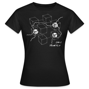 CM-1 Logo women's black with grey/white - Women's T-Shirt