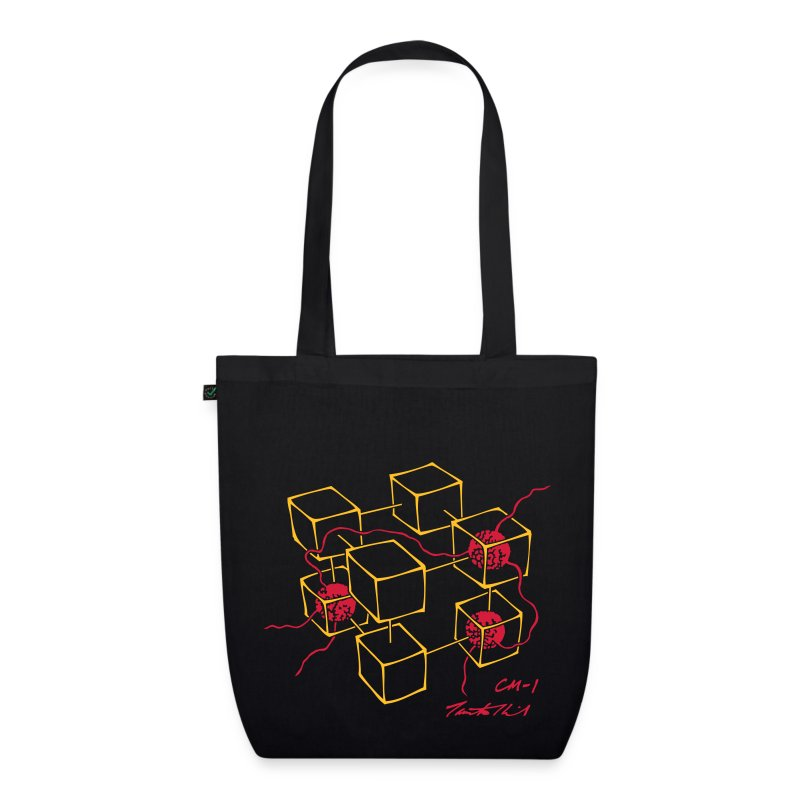 CM-1 Logo large tote black/red - EarthPositive Tote Bag