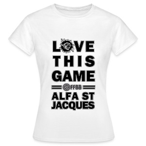 T-SHIRT Love This Game FEMME Blanc - T-shirt Femme