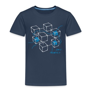 CM-1 Logo kid's navy/blue - Kids' Premium T-Shirt