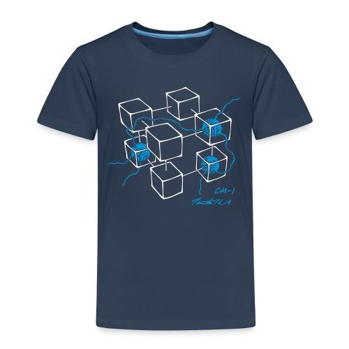 CM-1 Logo kid's navy/blue - Kids' Premium T-Shirt