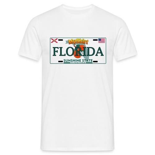 Florida Fan Shirt - Licence Plate Edition - Männer T-Shirt