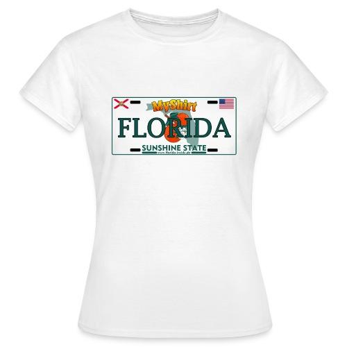 Florida Fan Shirt - Licence Plate Edition - Frauen T-Shirt