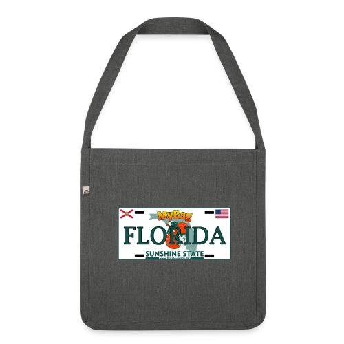 Schultertasche im Florida Licence Plate Look - Schultertasche aus Recycling-Material