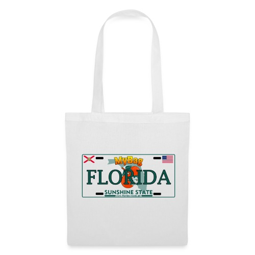 Einkaufstasche im Florida Licence Plate Look - Stoffbeutel