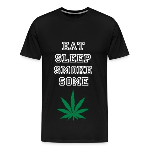 Eat Sleep Smoke Some Weed T-shirt - Männer Premium T-Shirt