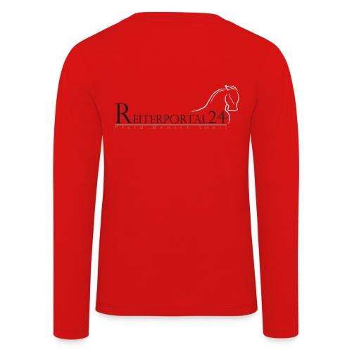 Reiterportal24 Kinder Langarmshirt rot - Kinder Premium Langarmshirt