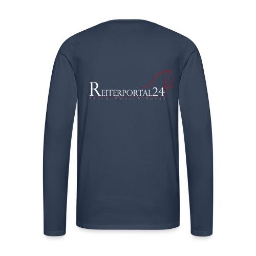 Reiterportal24 Männer Langarmshirt navy - Männer Premium Langarmshirt