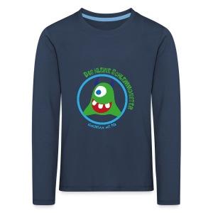 Schleimmonster Kinder Langarm dunkle Hörnchen - Kinder Premium Langarmshirt