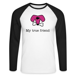 My dog, my true friend - Men's Long Sleeve Baseball T-Shirt