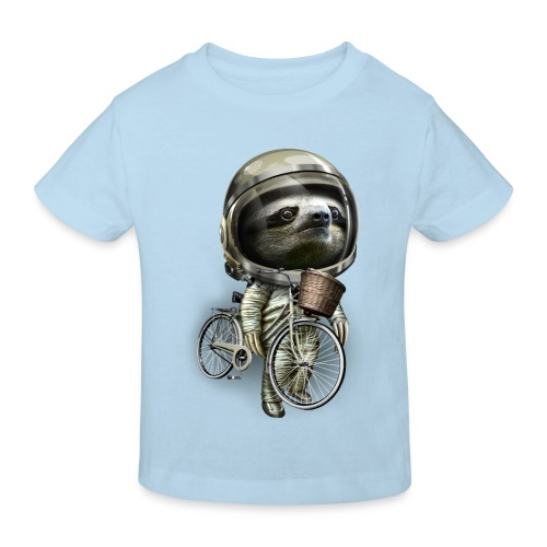 With my bicycle kid - Kids' Organic T-Shirt