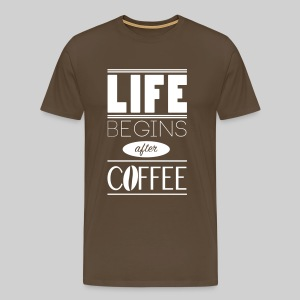 T-Shirt Men Life-Coffee - Männer Premium T-Shirt