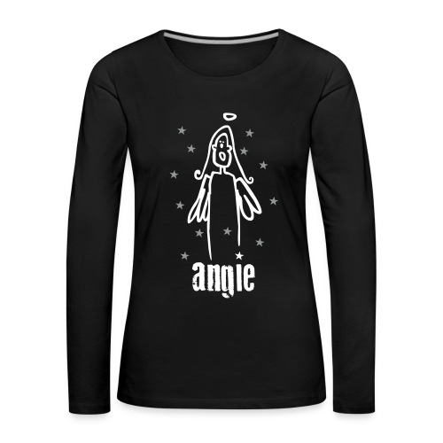 engel angie - Frauen Premium Langarmshirt