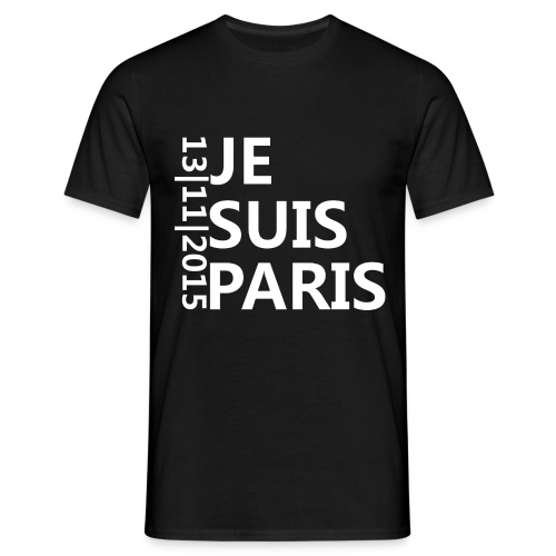 JE SUIS PARIS Black - Männer T-Shirt