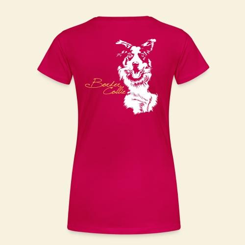 T-Shirt women, Border Collie digitaler Direktdruck hinten  - Frauen Premium T-Shirt
