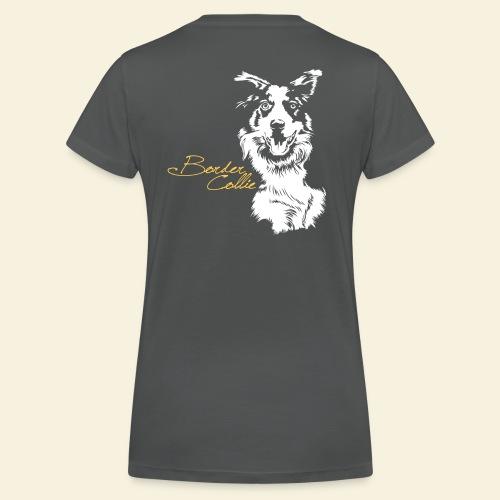 T-Shirt women, Border Collie digitaler Direktdruck hinten  - Frauen Bio-T-Shirt mit V-Ausschnitt von Stanley & Stella