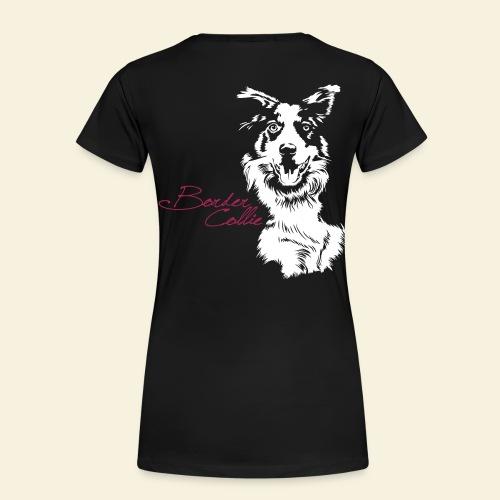 T-Shirt women, Border Collie Flexdruck hinten  - Frauen Premium T-Shirt
