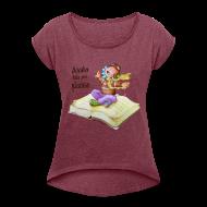 Camisetas ~ Camiseta con manga enrollada mujer ~ BOOKS CAN TAKE YOU PLACES