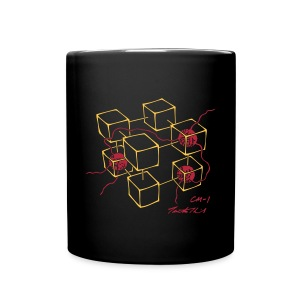 CM-1 Logo mug black with gold/red - Full Colour Mug