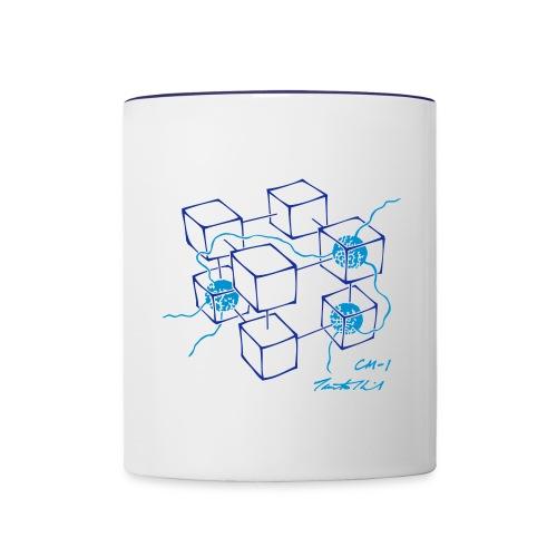 CM-1 Logo mug white/blue - Contrasting Mug