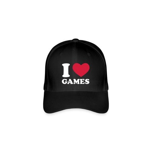 I LOVE GAMES - Flexfit Baseball Cap