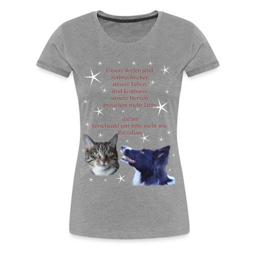Tiere sind keine Weihnachtsgeschenke - Spendenartikel - Frauen Premium T-Shirt