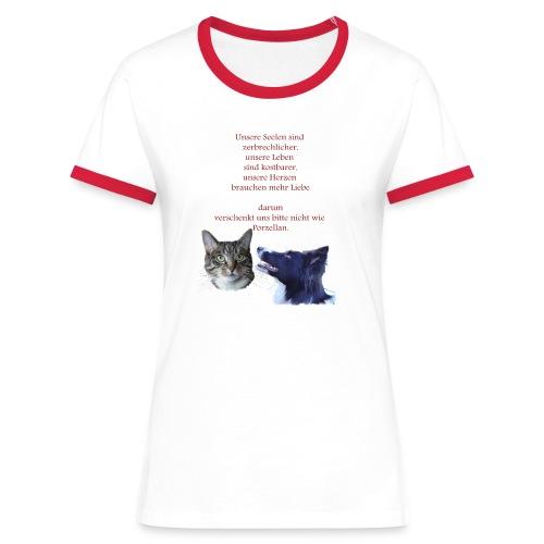Tiere sind keine Geschenke Shirt - Spendenartikel - Frauen Kontrast-T-Shirt