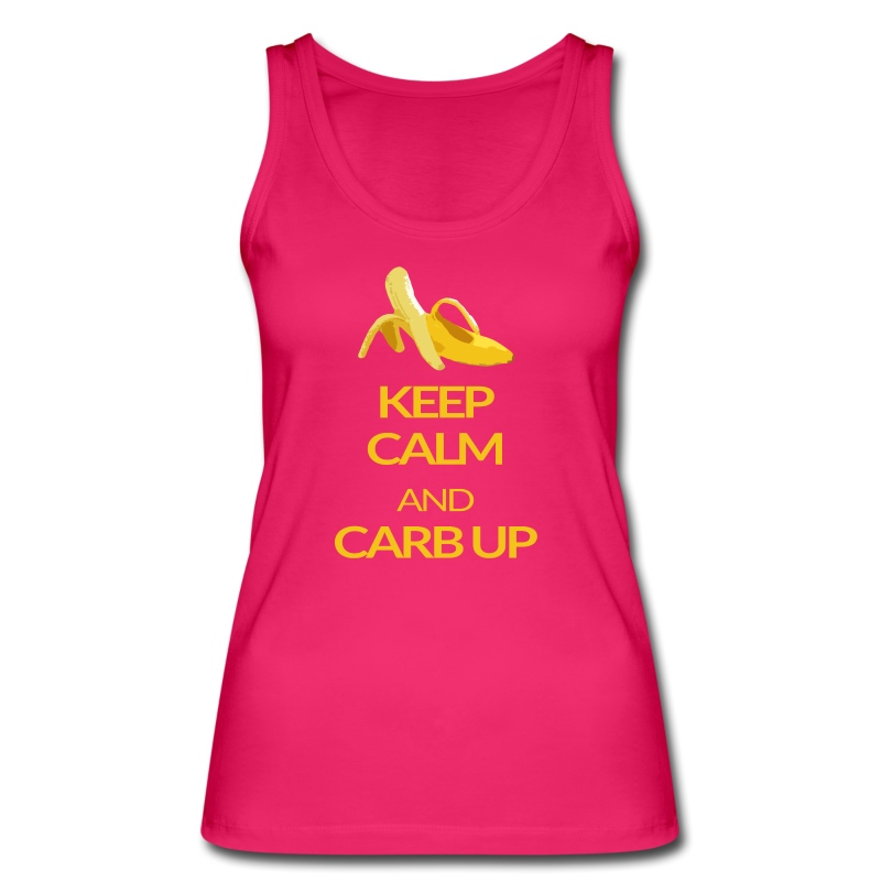 KEEP CALM and CARB UP girls _sport - Frauen Bio Tank Top