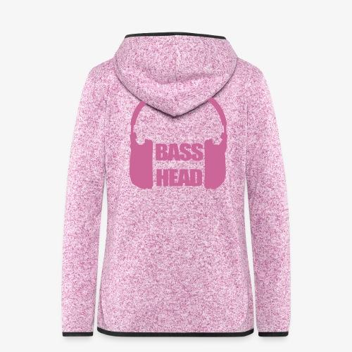 Basshead -fleecetakki (pinkki glitter painatus)(ladyfit) - Women's Hooded Fleece Jacket