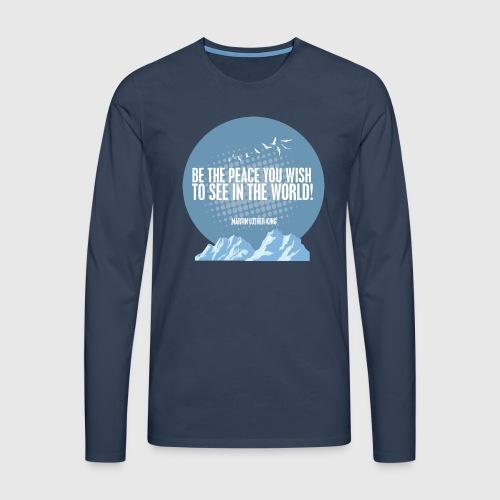 PEACE - MARTIN LUTHER KING - Herre premium T-shirt med lange ærmer