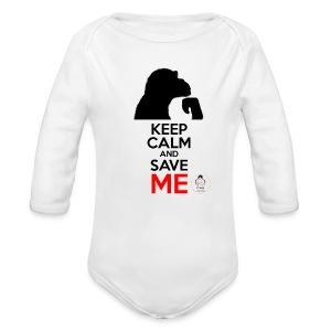 design_keep calm Bodys Bébés - Body bébé bio manches longues