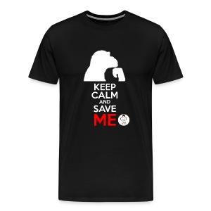 design_keep calm_blanc.png Tee shirts - T-shirt Premium Homme