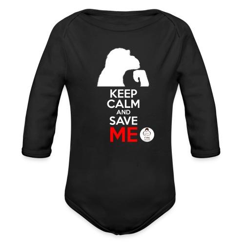 design_keep calm_blanc.png Bodys Bébés - Body bébé bio manches longues