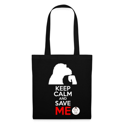 design_keep calm_blanc.png Sacs et sacs à dos - Tote Bag