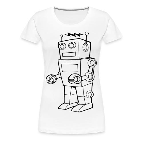 Robot B&W - Maglietta Premium da donna