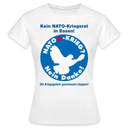 NATOm-Krieg Nein danke W - Frauen T-Shirt