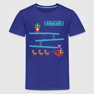 Santa Kong Shirts - Teenage Premium T-Shirt
