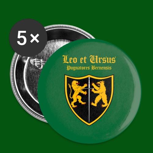 Leo et Ursus Button grün - Buttons groß 56 mm