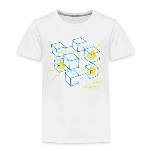 CM-1 Logo kid's organge/blue-gold - Kids' Premium T-Shirt