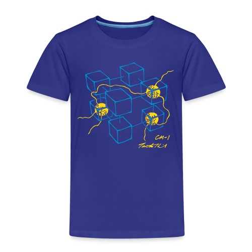 CM-1 Logo kid's organge/blue-gold - Kids' Premium T-Shirt