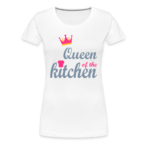 Queen of...Silbermetallic/Neonpink/Goldgelb - Frauen Premium T-Shirt