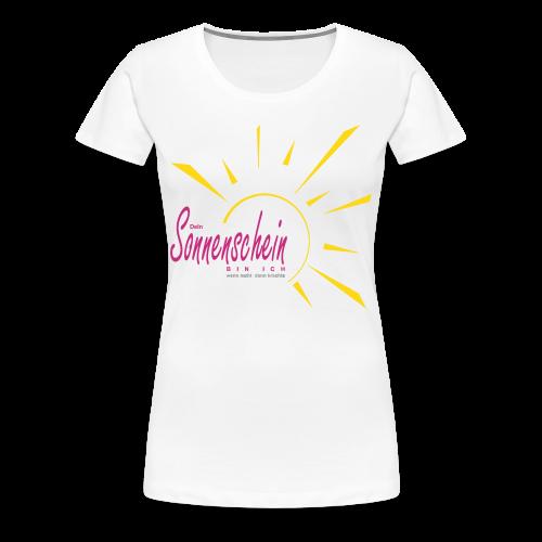 Sonnenschein...Goldgelb/Magenta - Frauen Premium T-Shirt