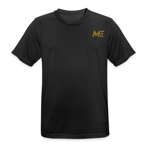 ME Premium Mens Fitness Shirt black/gold - Männer T-Shirt atmungsaktiv