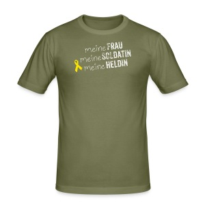 Meine Frau, mein Soldat, meine Heldin - Männer Slim Fit T-Shirt