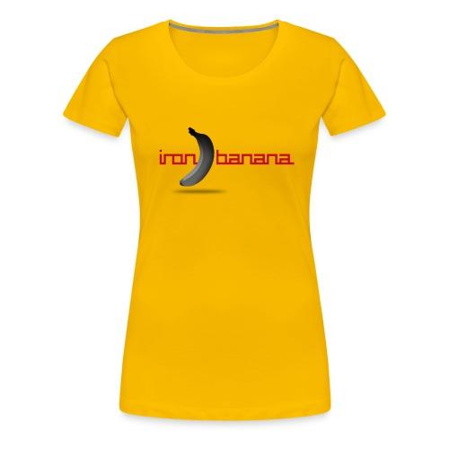 Iron Banana Logo Premium Women's Tee - Women's Premium T-Shirt
