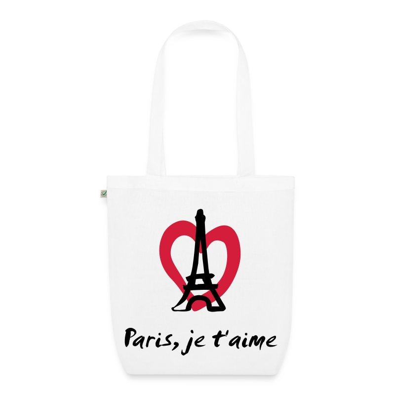 Stoffen Tas Eigen Tekst : Paris je t aime france stoffen tas spreadshirt