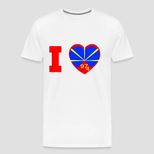 Tee shirt Premium Homme I love 974 - Lo Mahaveli - T-shirt Premium Homme