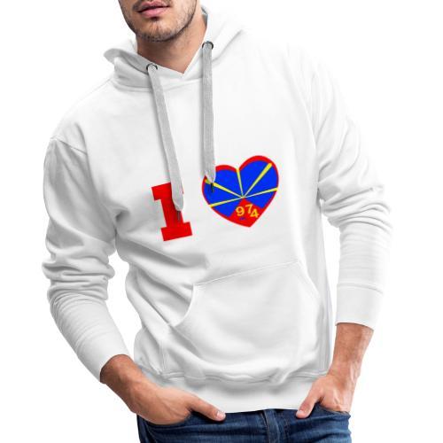Sweat-shirt à capuche pour homme I love 974 - Lo Mahaveli - Sweat-shirt à capuche Premium pour hommes